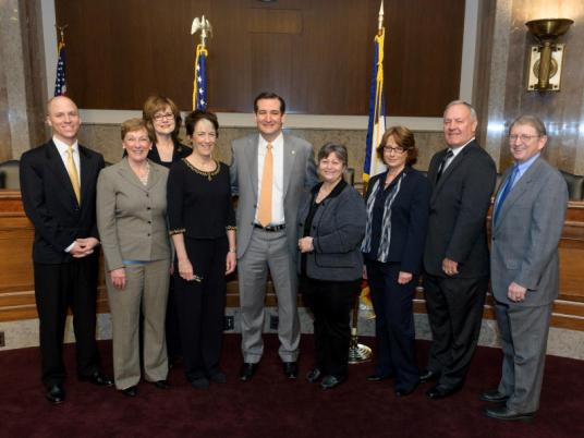 Senator Ted Cruz with Texas Association Executives